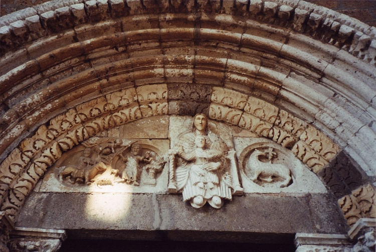Church (detail), Tuscania