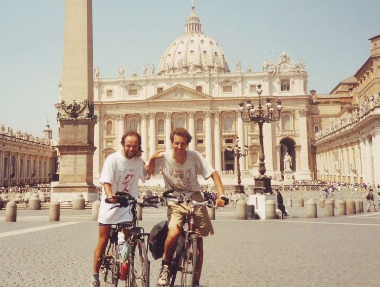 We made it! Willem and I before the San Pietro, Rome