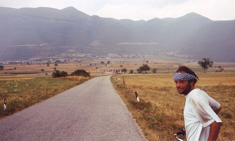 Willem in the mountains of Umbria