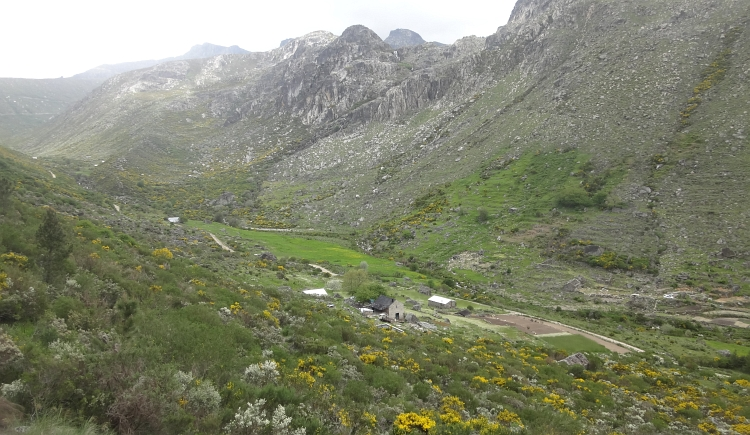 The glacial valley in the Serra de Estrela