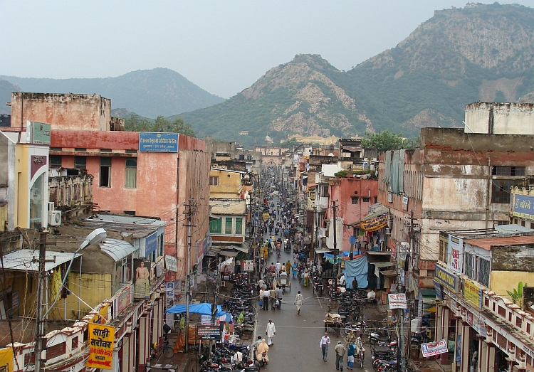 View over Alwar from the Shiva Temple