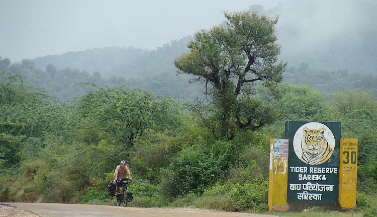 Willem is leaving Sariska National Park (outer area)