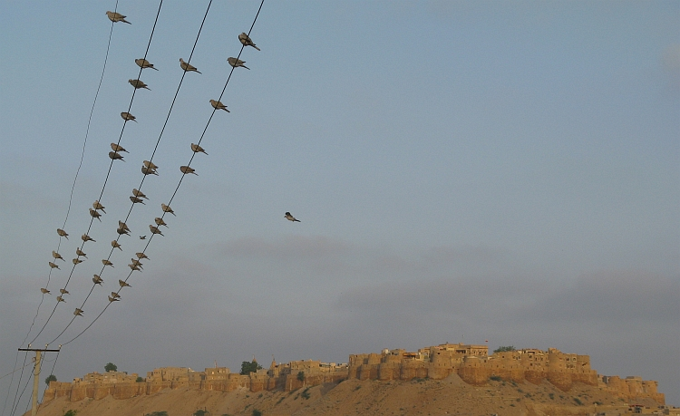 The city walls of Jaisalmer