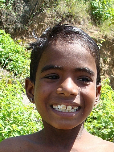 Boy in the Aravalli Hills