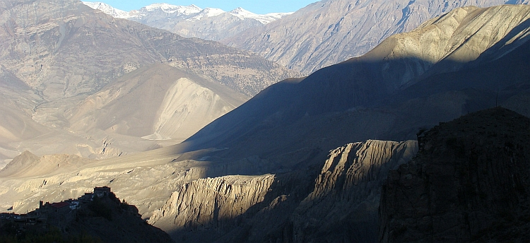 Shadowplay between Muktinath and Jharkot