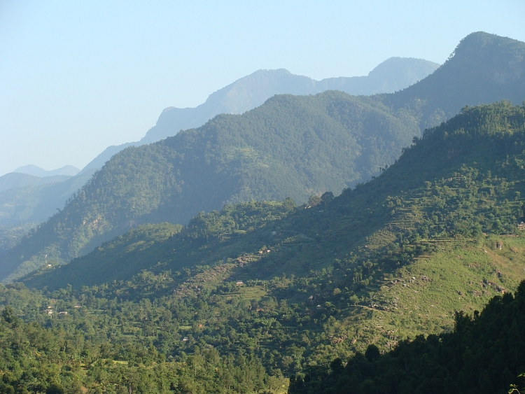 Himalaya hill range with Bandipur on top of the ridge (but out of view)