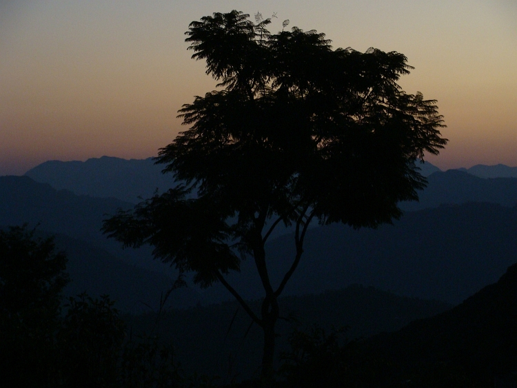 View over the Himalaya Hills from Bandipur