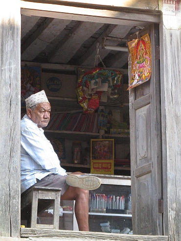 Bandipur shop owner