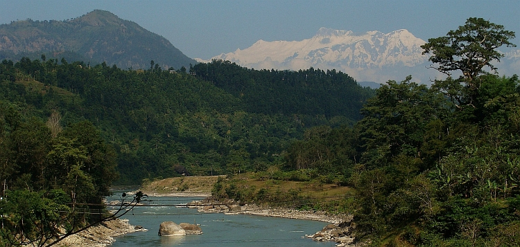 Marsyangdi River with Annapurna II (7.939 m)