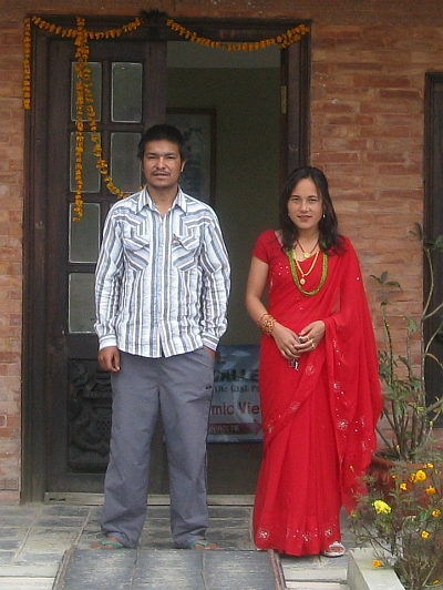 Owners of our hotel in Nagarkot