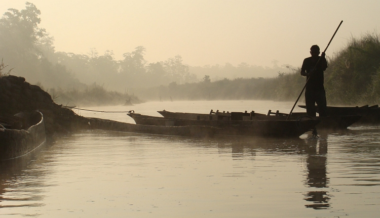 Boat on the Rapti River, Chitwan