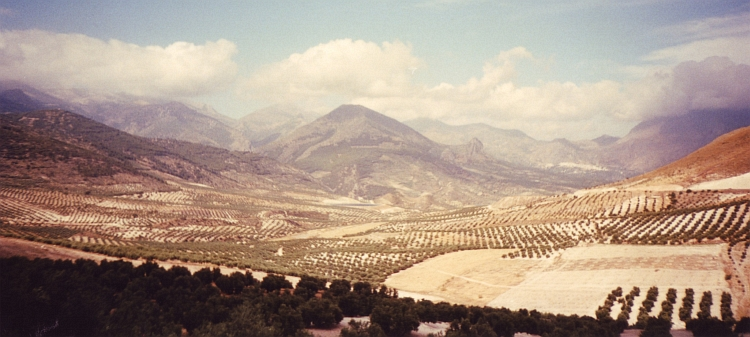 Deep Valleys and high mountain ranges between Ubeda and Granada