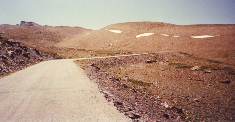The highest bicycle track of Europe: up to 3.400 meter Pico Veleta, Sierra Nevada