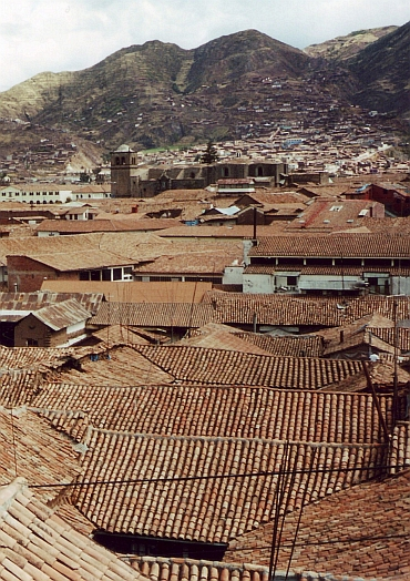 Cuzco, view over the town
